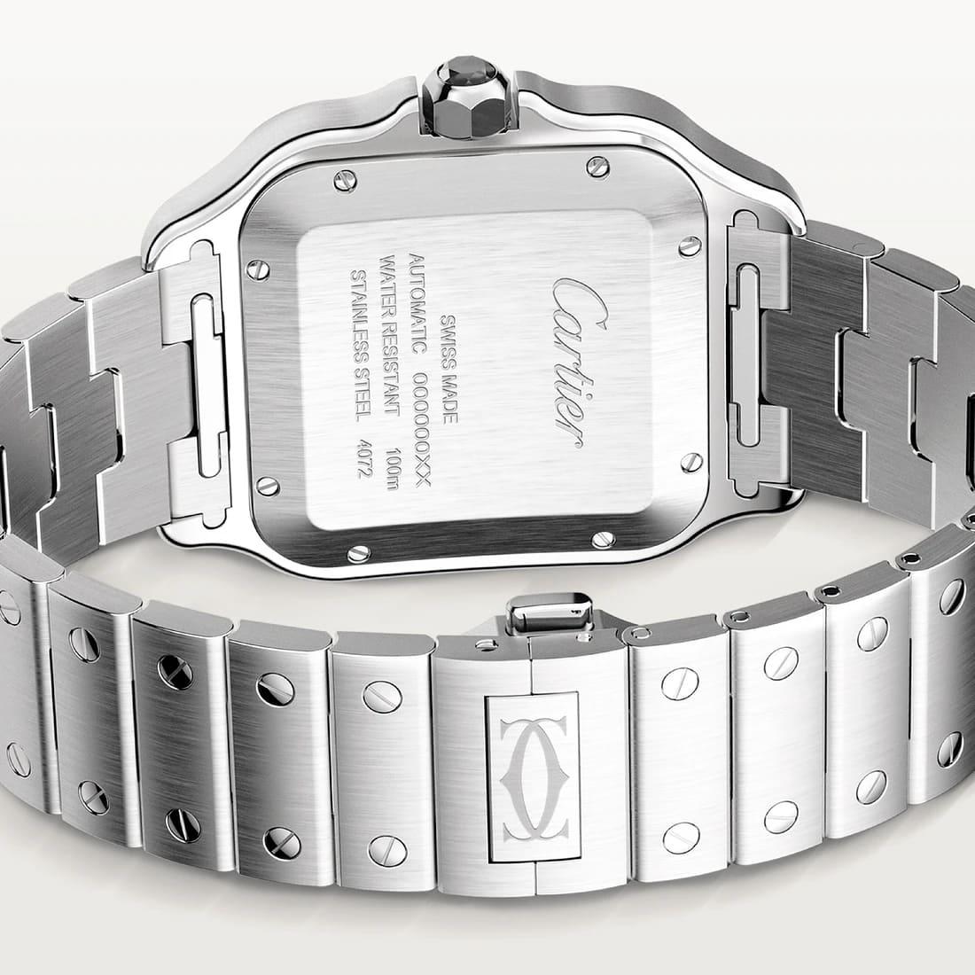 Santos de Cartier Armband & Gehaeuseboden