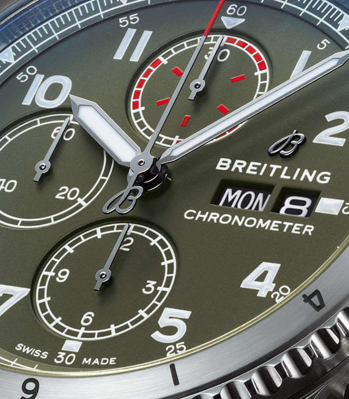 breitling-aviator-8-chronograph-a133161a1l1x2-zifferblatt