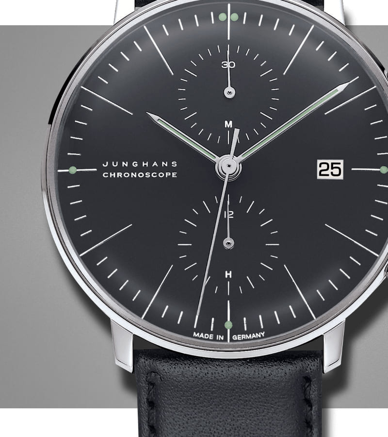 junghans-max-bill-chronoscope-027-4601-00-zifferblatt