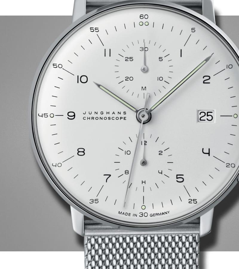 junghans-max-bill-chronoscope-027-4003-44-zifferblatt