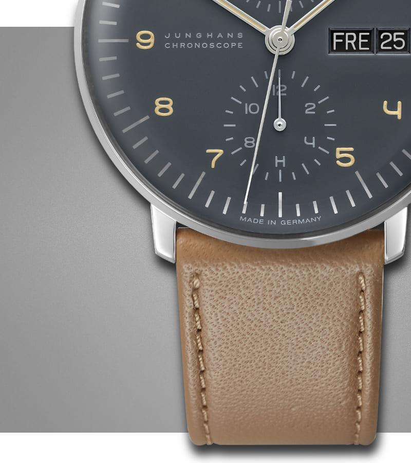 junghans-max-bill-chronoscope-027-4501-00-armband